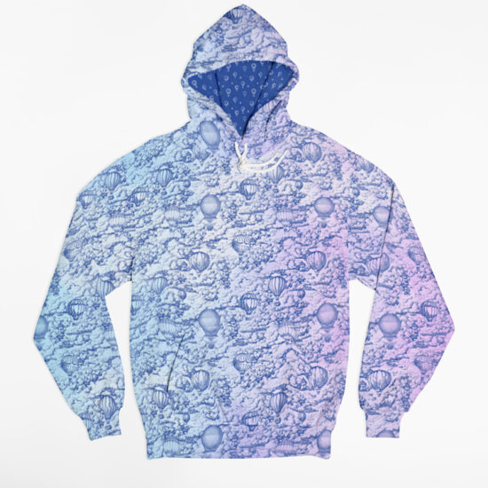 Head in the clouds - unisex hoodie with inner liner