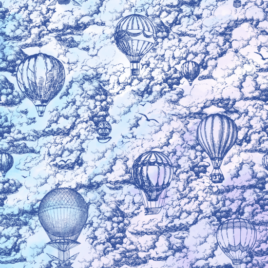 Head in the clouds - pattern preview